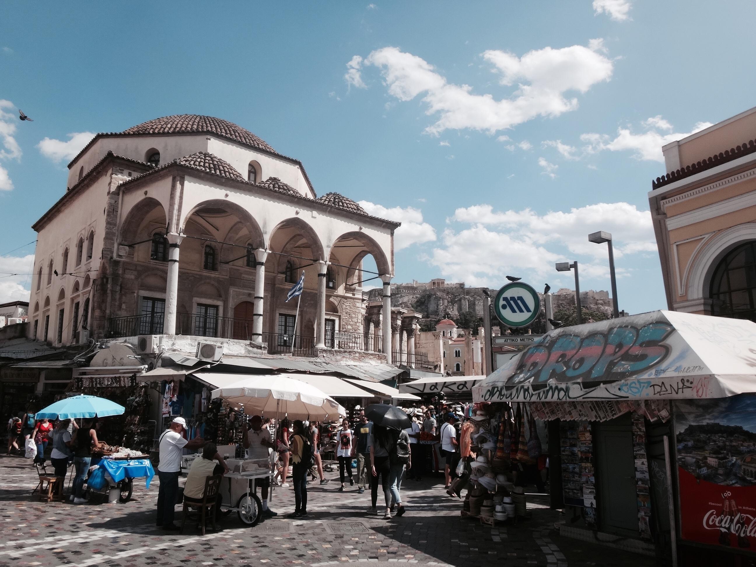 athen markt akropolis