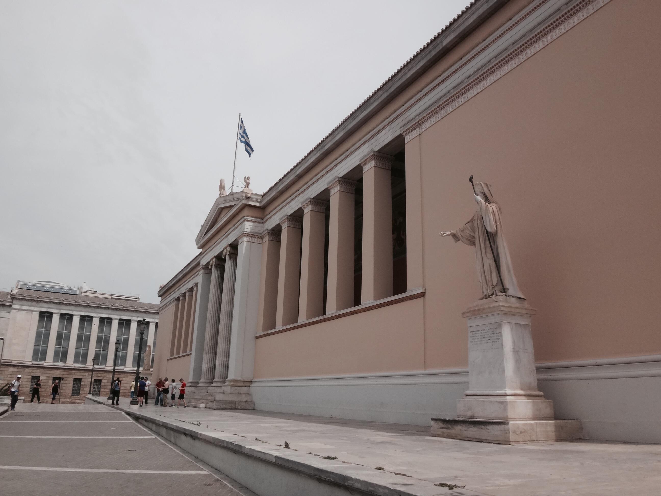 athen universität statue