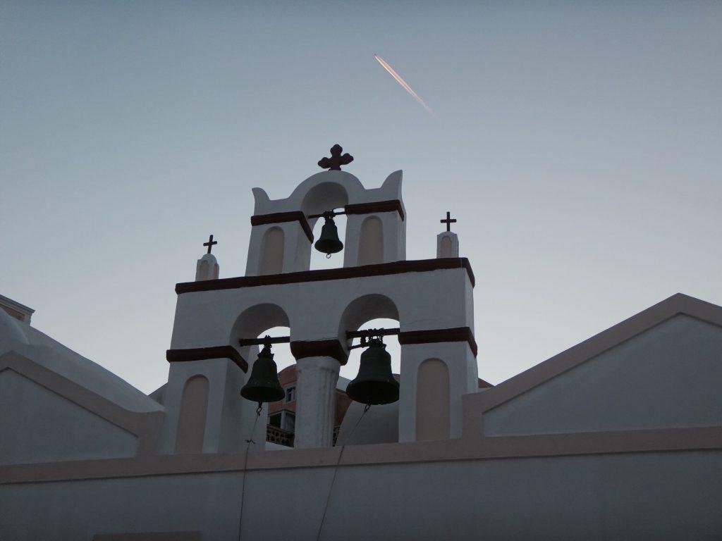 santorini fira oia imerovigli glocken